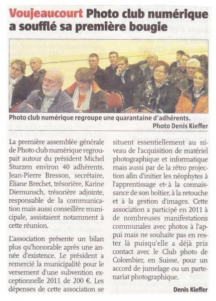Assemblée Générale 2012 (Le Pays)