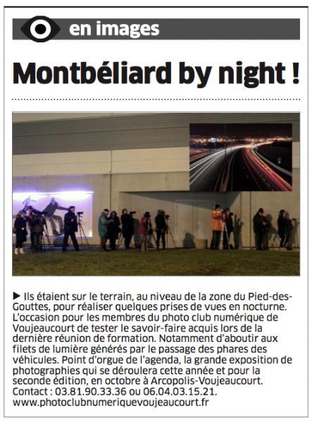 Sortie de nuit à Montbéliard, décembre 2013 (L'Est Républicain)