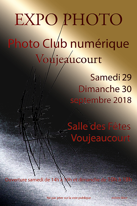 Affiche expo 2018 exposition club 72